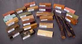 wood samples showing different colors
